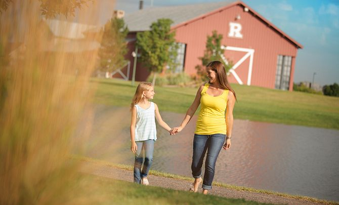 Reunion Community Mom Daughter Walking Trails