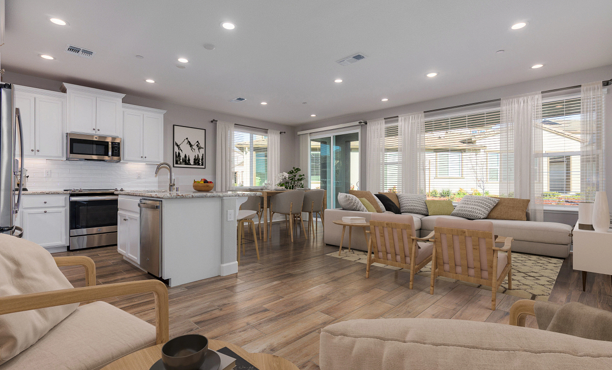 Open Concept Living Virtually Staged