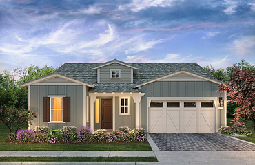 Monterey Plan Exterior A: Contemporary Ranch