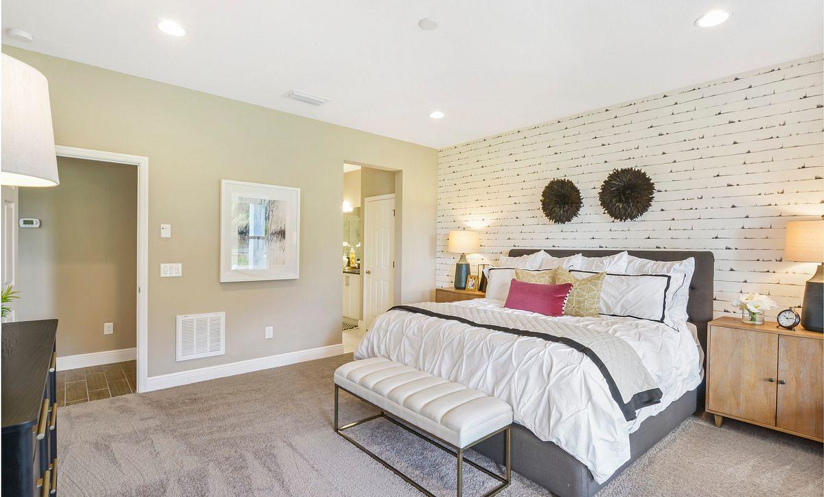 Trilogy at Ocala Preserve Liberty Model Home Master Bed