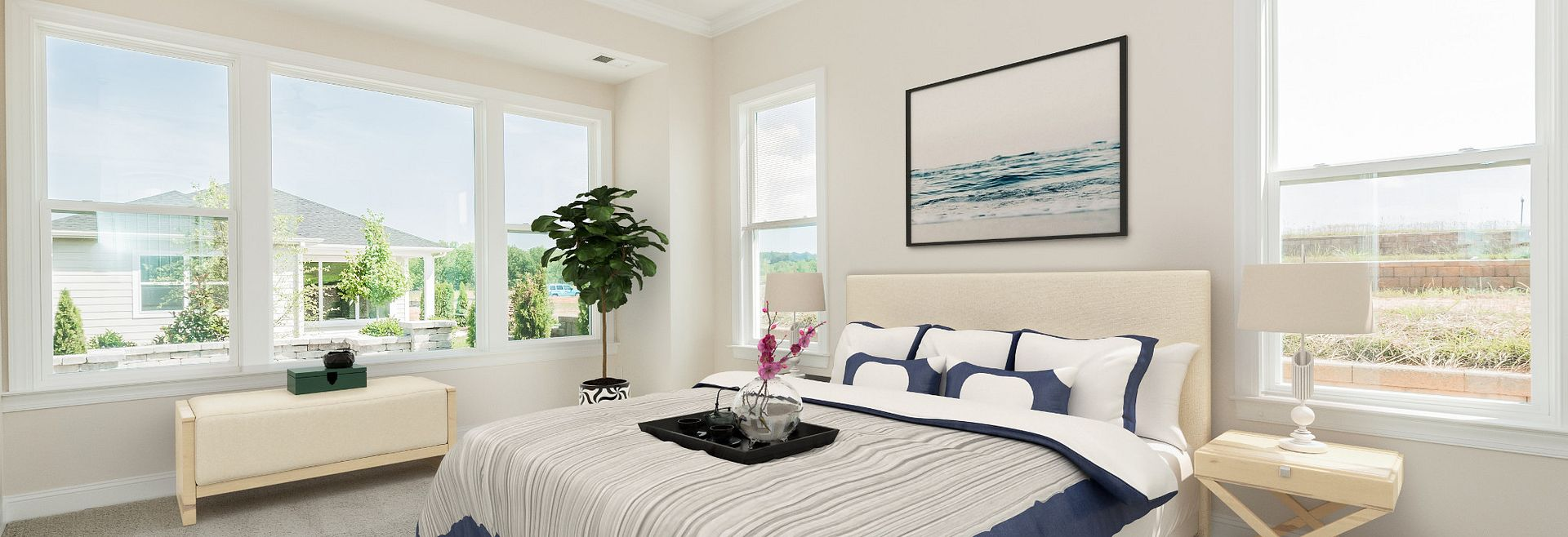Trilogy Lake Norman Virtually Staged Quick Move In  Master Bed