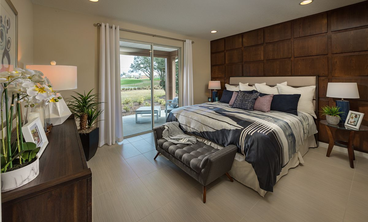 Trilogy at Ocala Preserve Rome Model Home Master Bed