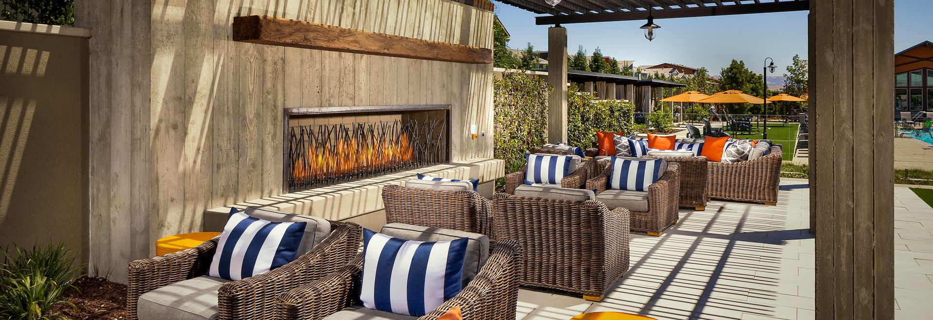 Sage Clubhouse Livermore Outdoor Fireplace