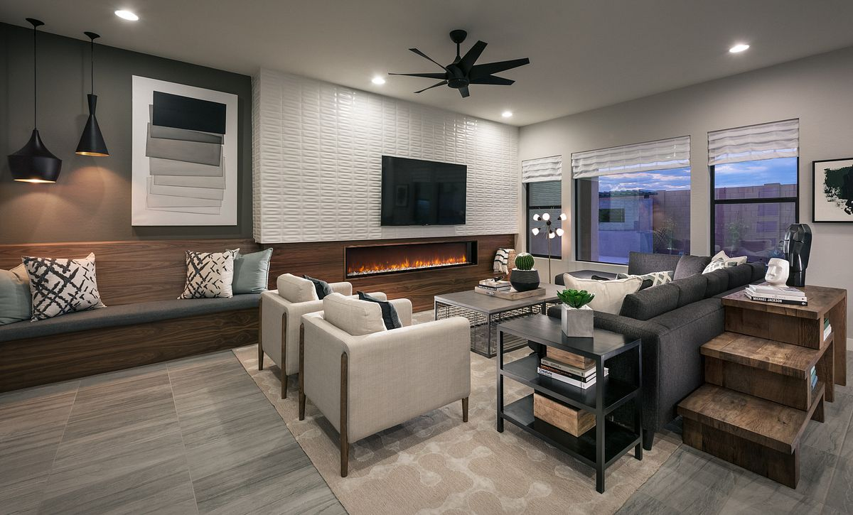Plan 5582 Living Room