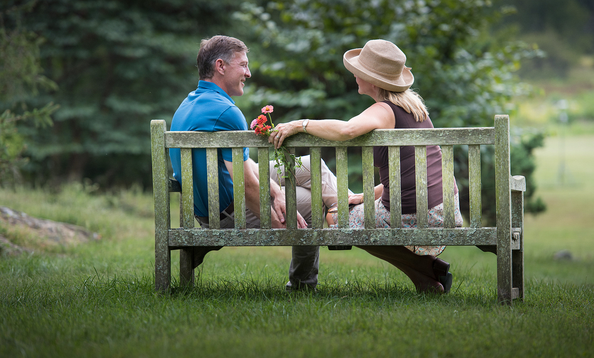 Couple near Lake Frederick