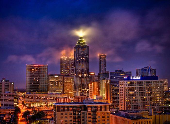 Atlanta, Georgia night skyline
