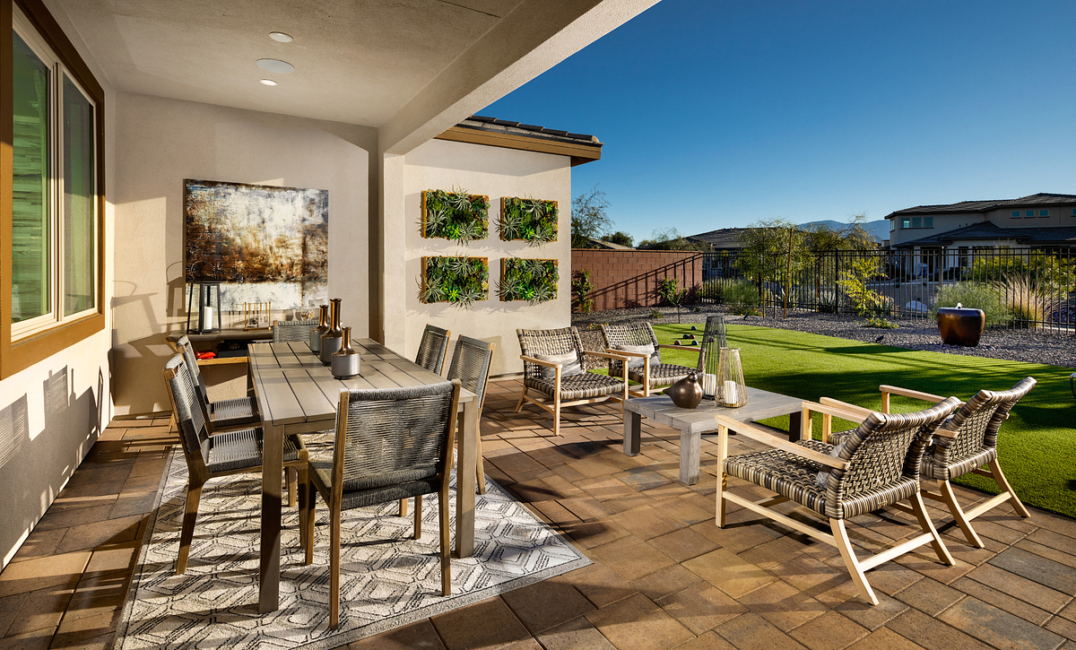 Trilogy at the Polo Club Connect Model Home  Covered Patio