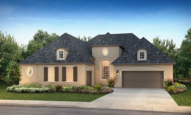 Plan 6015 Exterior B: French Country