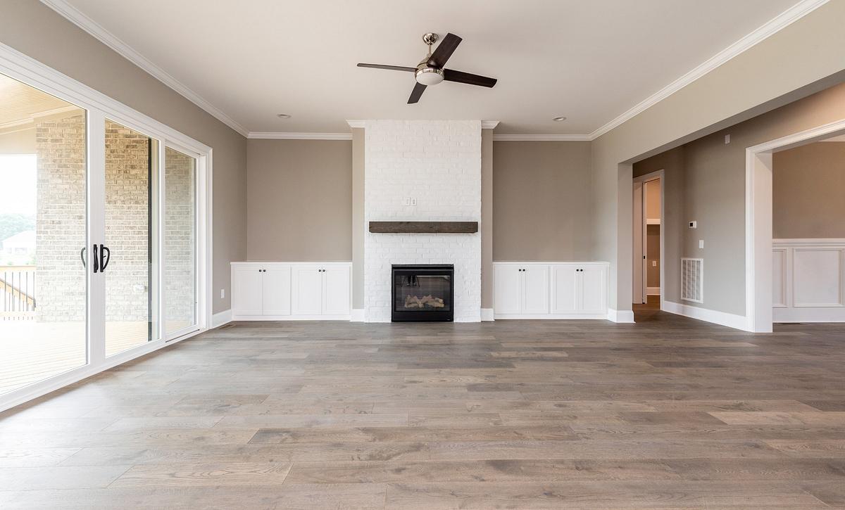 Kingsley plan Family Room w/ sliding doors option