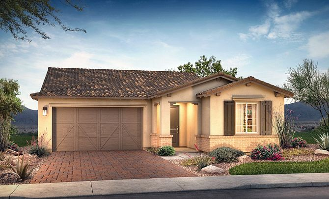 Plan 4013 Exterior B: Adobe Ranch