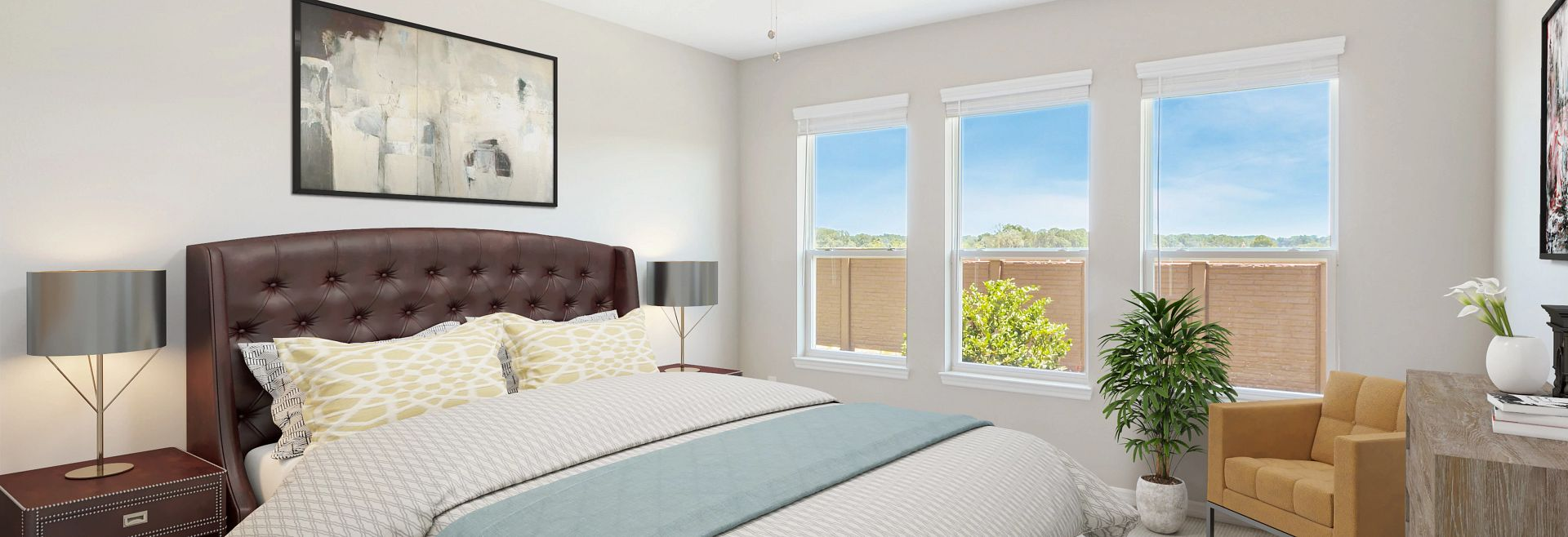 Trilogy at Ocala Preserve Quick Move-In Home Virtually Staged Master Bed
