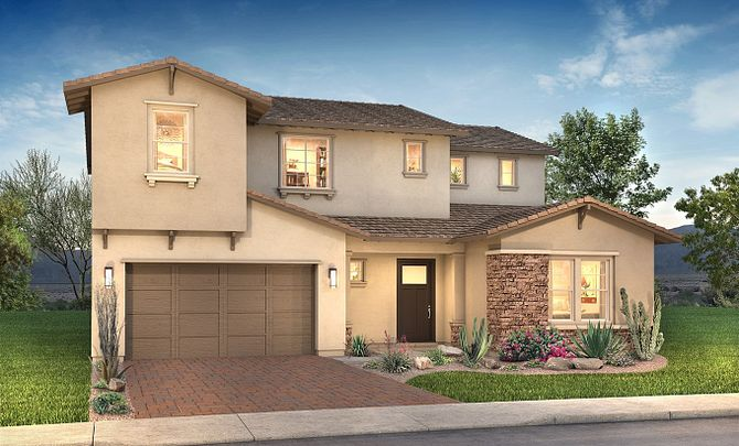 Plan 5015 Exterior D: Contemporary Craftsman