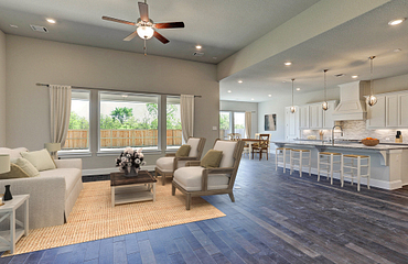 Plan 6010 Living - Kitchen