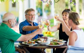 Homeowners Dining Together