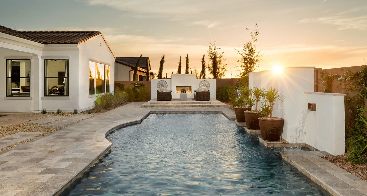 Large backyards allow for large pools
