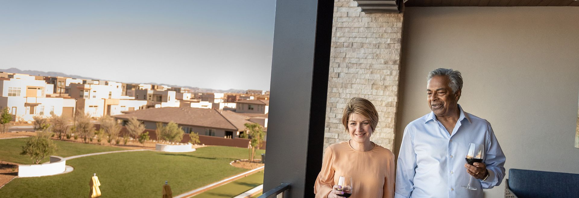 Trilogy Summerlin Homeowners Enjoying The Overlook