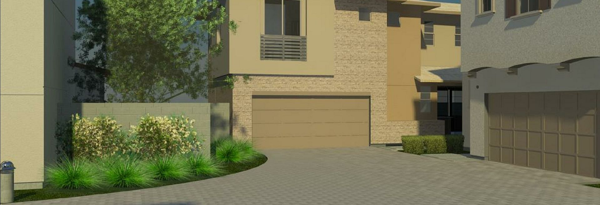 Conceptual Rendering Only of Driveway