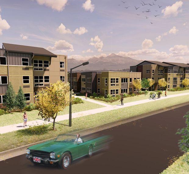 Apex Meridian South Affordable Apartments in Meridian, Denver Exterior Rendering