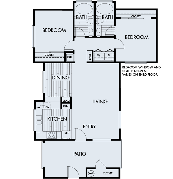 Park sierra at iron horse trail apartments dublin floorPlan 2B