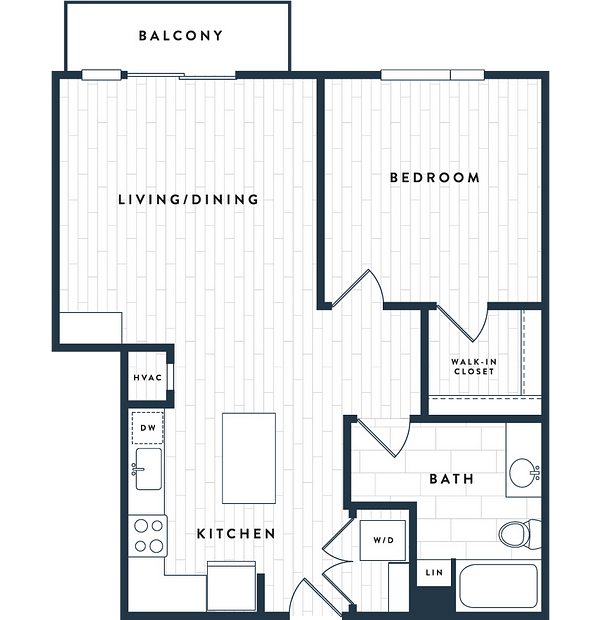 Tangent Apartments Denver Tech Center 1 bedroom 1 bath Plan 1D