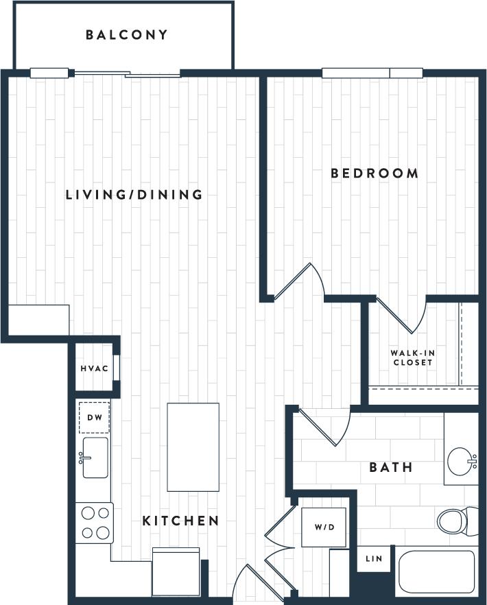 Tangent Apartments Denver Tech Center 1 bedroom 1 bath Plan 1D