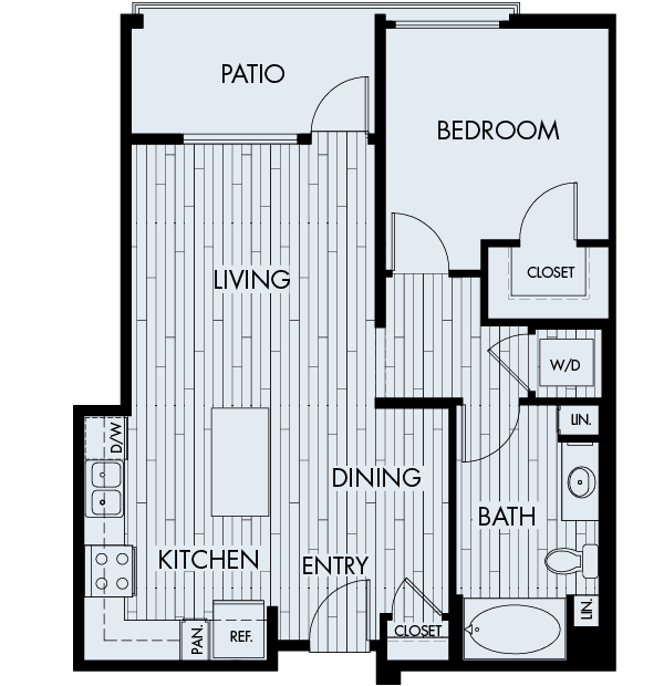 Ascent Affordable Floor Plan 1B