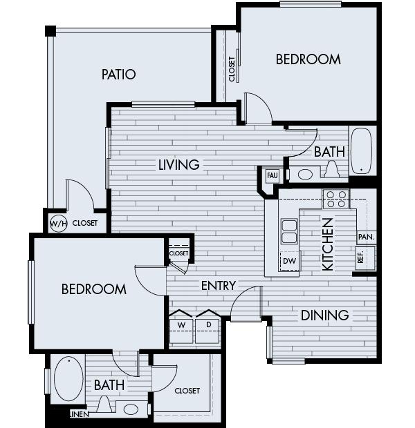 Park Sierra Affordable Apartments in Dublin Plan 2C