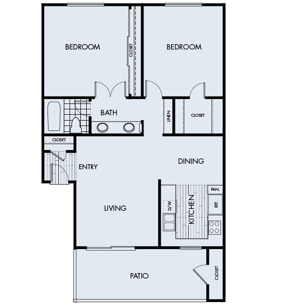 Crystal Springs Apartments in Fountain Valley Plan 2A