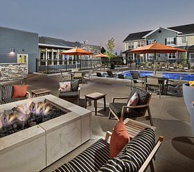 Lucent Blvd Apartments Highlands Ranch Colorado Fire Pit Pool Amenity