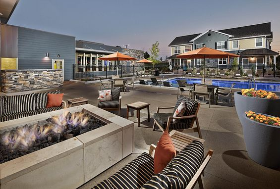Lucent Blvd Apartments Highlands Ranch fire pit pool Amenity