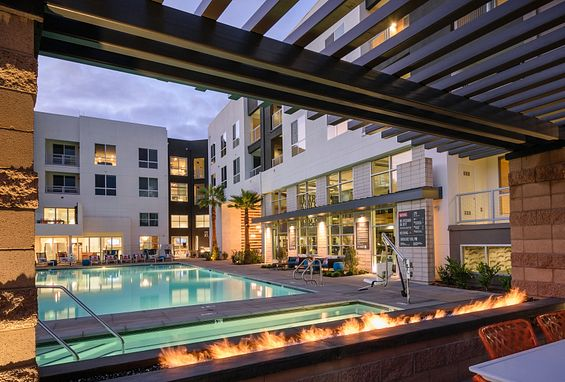 Resort-style pools and spas at Vantis Apartments in Aliso Viejo, CA