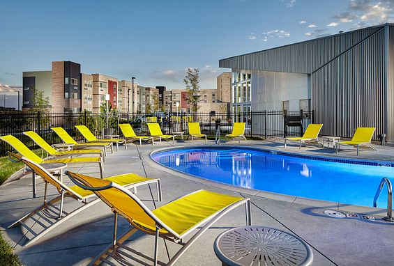 Apex meridian west affordable apartments denver amenity pool