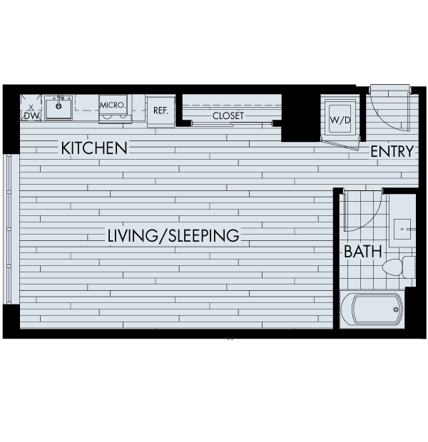 the quincy downtown denver apartments studio plan sb