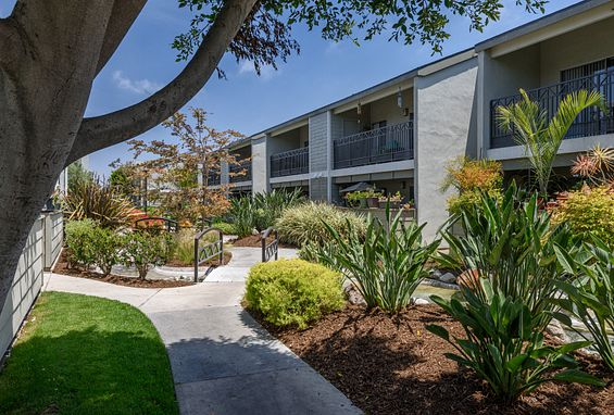 Creek views at Crystal Springs Apartments in Fountain Valley, CA