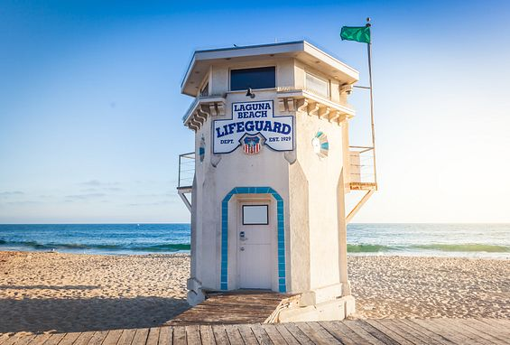 Orange county apartments attractions laguna beach lifeguard tower