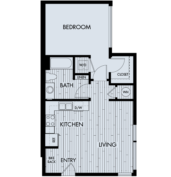 Apex meridian east affordable apartments denver one bedroom one bathroom floor plan 1c