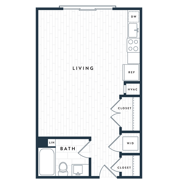 Tangent Apartments Denver Tech Center Studio 1 bath Plan SA
