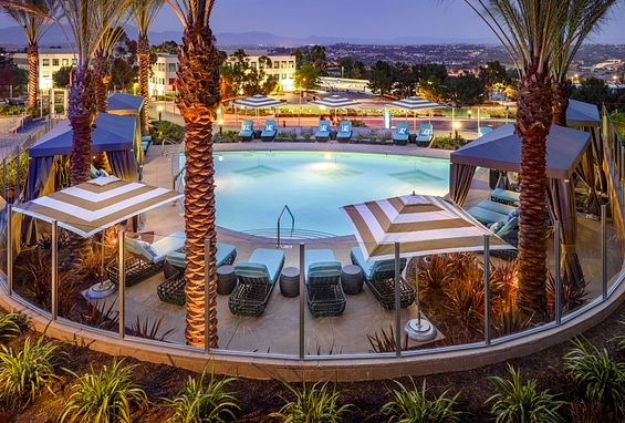 Vantis Apartments in Aliso Viejo, CA overlooks the Saddleback Mountains