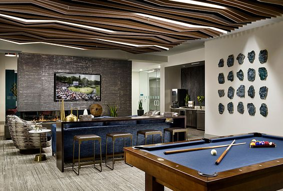 Tangent Apartments Denver Tech Center Resident Lounds billiards amenity