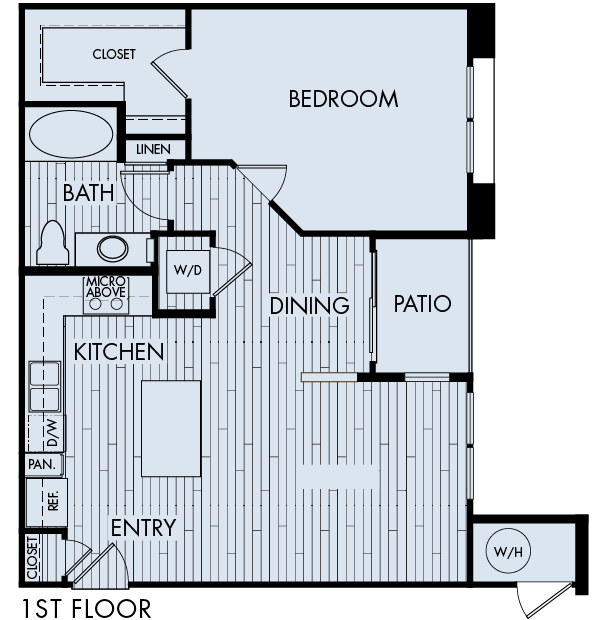 Lucent Blvd Apartments Highlands Ranch 1 bedroom 1 bath Plan 1B