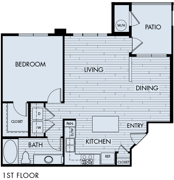 Lucent Blvd Apartments Highlands Ranch 1 bedroom 1 bath Plan 1C