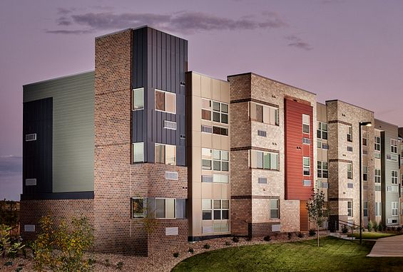 Apex meridian west affordable apartments denver exterior