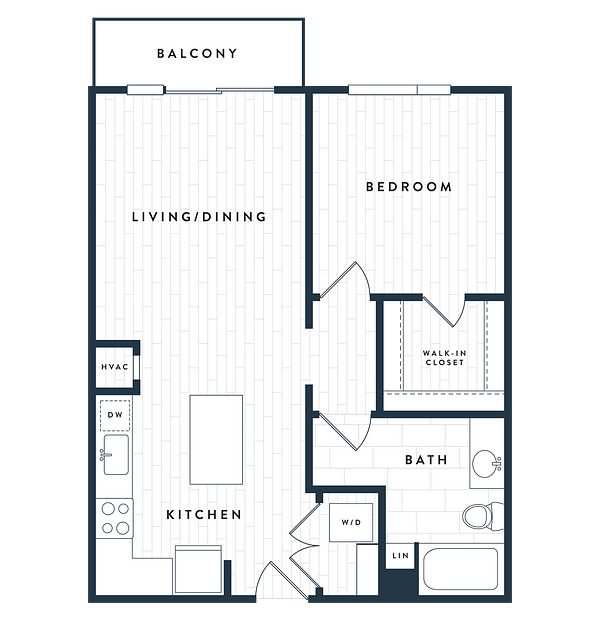 Tangent Apartments Denver Tech Center 1 bedroom 1 bath Plan 1A
