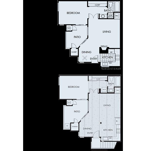 Seaside Apartments Floor Plan 1B Remodel Classic