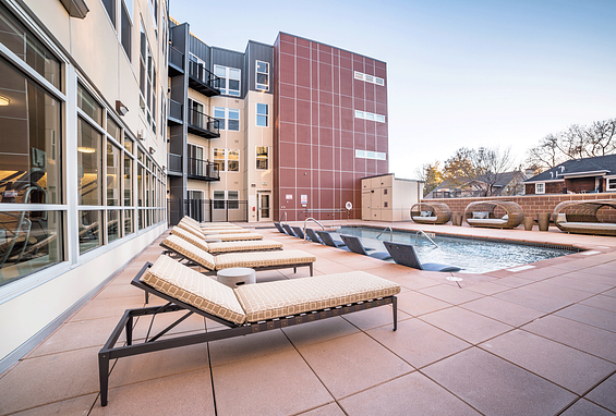 The york on city park apartments denver city park west amenity outdoor pool