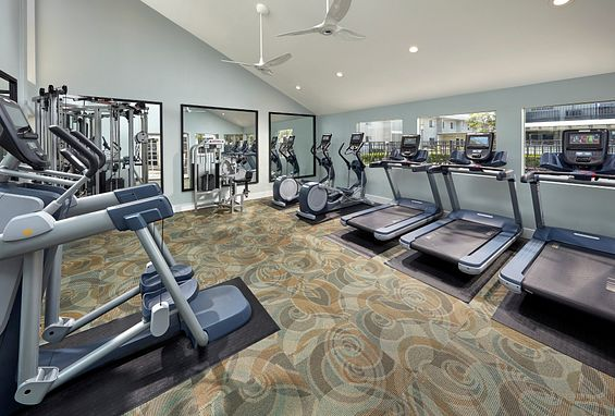 Two fitness centers at Crystal Springs Apartments in Fountain Valley, CA