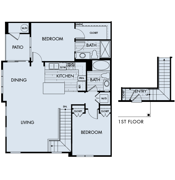 Lucent Blvd Apartments Highlands Ranch 2 bedrooms 2 baths Plan 2B