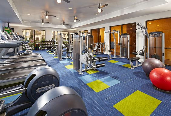 city lights aliso viejo apartments fitness center with cardio and weight training equipment