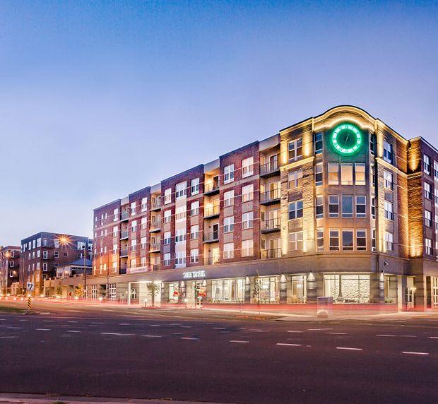 The york on city park apartments denver city park west building exterior
