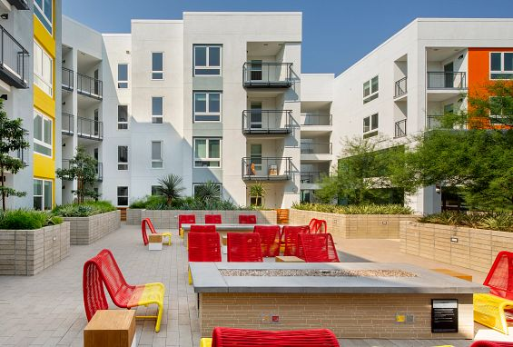 Symmetry apartments northridge outdoor fire pit